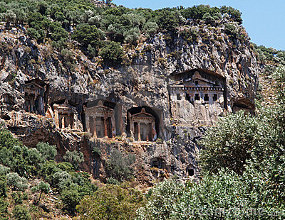 Rock Tombs in Turkey