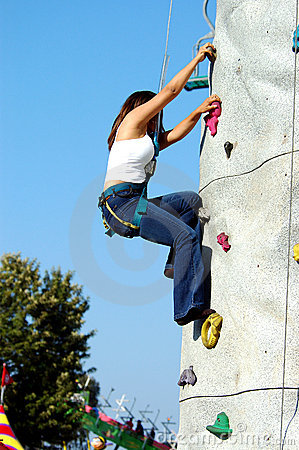 Rock Wall Girl