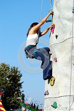 Rock Wall Girl