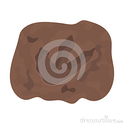 Free Rock With Dinosaur Footprint Icon In Cartoon Style Isolated On White Background. Dinosaurs And Prehistoric Symbol Stock Royalty Free Stock Image - 85258876