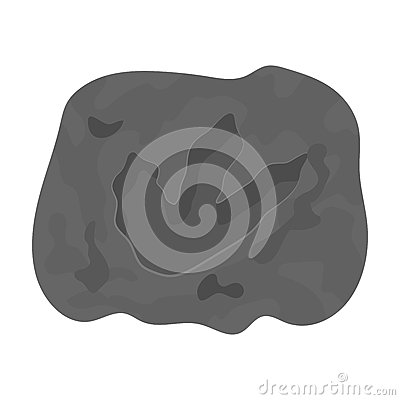 Free Rock With Dinosaur Footprint Icon In Monochrome Style Isolated On White Background. Dinosaurs And Prehistoric Symbol Stock Photography - 85611682