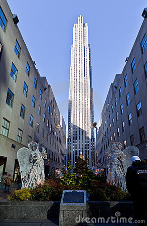 Rockefeller Center Christmas Decoration New York Editorial Photo