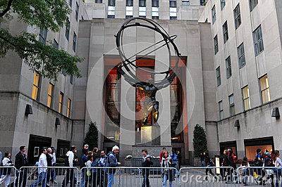 Rockefeller Center in Manhattan New York Editorial Image