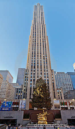 Rockefeller Center New York Editorial Stock Photo