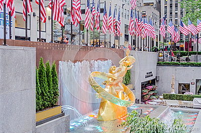 Rockefeller Center, New York Editorial Image