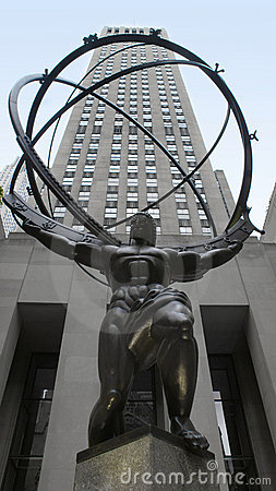 Rockefeller Center Statue, New York City Editorial Photography
