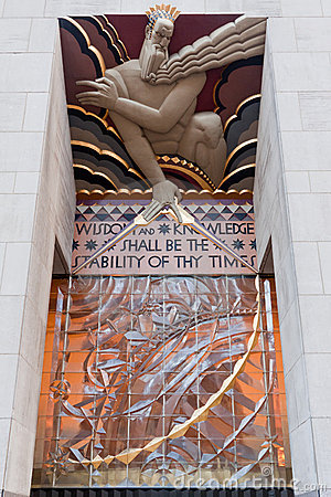 Free Rockefeller Center Wisdom, Light And Sound Royalty Free Stock Photos - 18743588