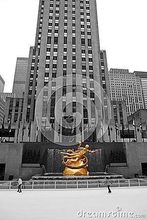 Rockefeller Centre Skating Editorial Stock Photo