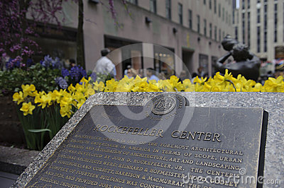 Rockefeller plaque in new York city Editorial Image