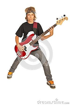Rocker teen boy