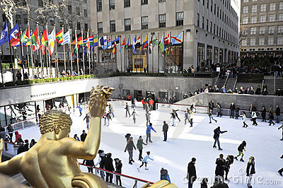 Rockerfeller center in new York city Editorial Stock Photo