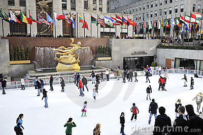 Rockerfeller center in new York city Editorial Image
