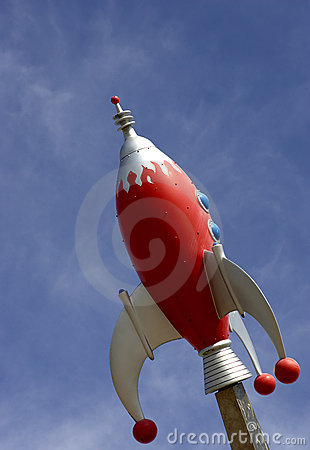 Rocket against blue sky Editorial Stock Photo