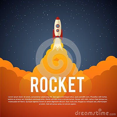 Free Rocket Launch Icon. Vector Illustration Eps 10 Royalty Free Stock Images - 64082819