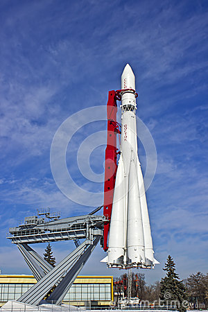 The rocket on the launch pad