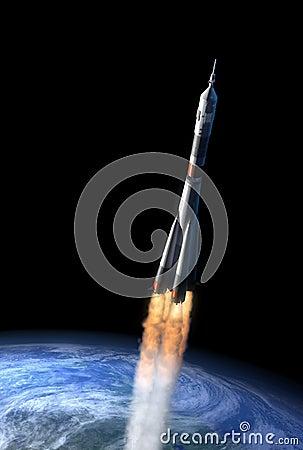 Free Rocket Leaving Terrestrial Gravitation Stock Photos - 4934413