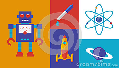 Rocket science vector symbols