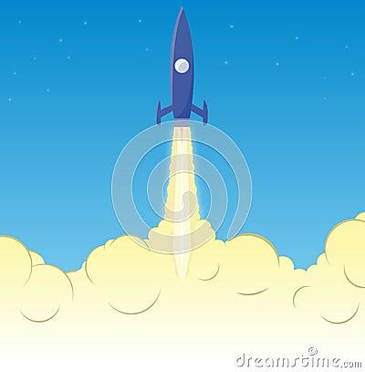 Rocket smoke clouds