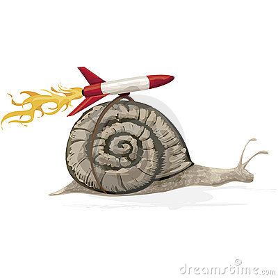 Free Rocket Snail With Clipping Path Royalty Free Stock Photos - 621058