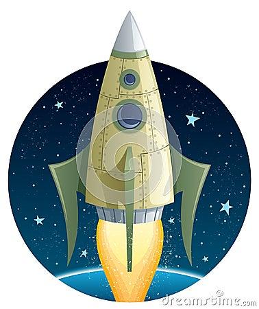 Rocket in Space