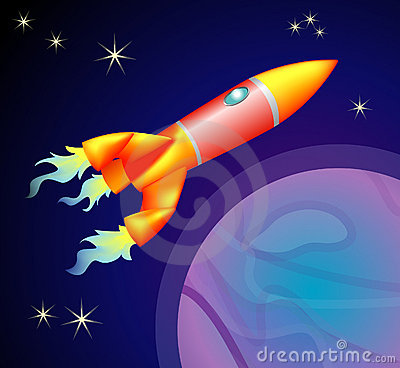 Free Rocket Space Ship Royalty Free Stock Image - 707506