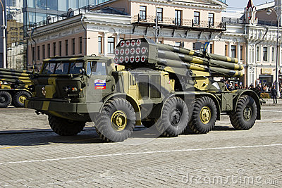 Rocket system in Russia Editorial Photography