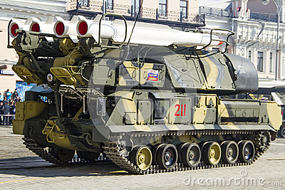 Rocket system in Russia Editorial Stock Image