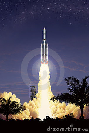 Free Rocket Takeoff Royalty Free Stock Photos - 1515008