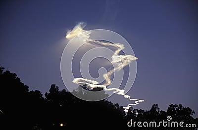 Rocket Vapor In Sky