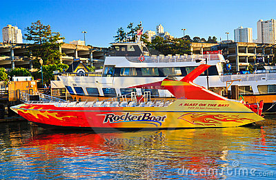 RocketBoat in Pier 39, San Francisco Editorial Photo