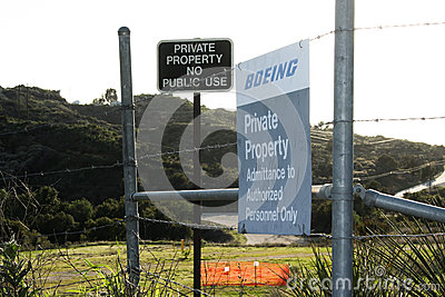 Rocketdyne Site Boeing Sign Editorial Photography