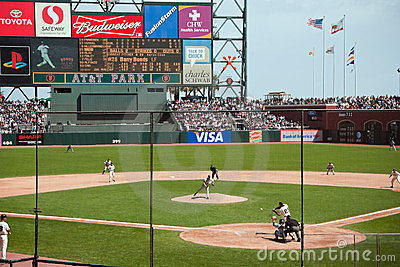 Rockies-Giants at AT&T Park, 9/14/06 Editorial Stock Photo