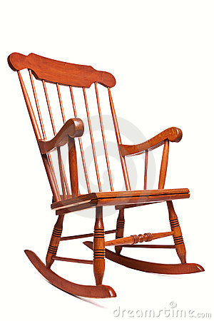 Free Rocking Chair Isolated On A White Background Stock Image - 15253341