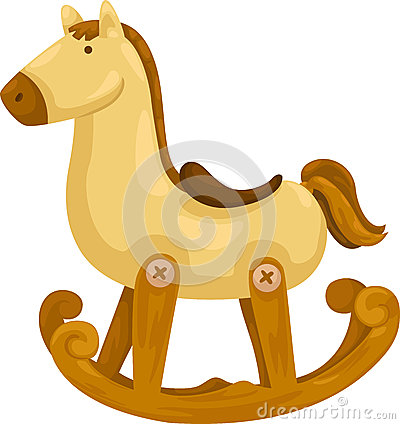 Free Rocking Horse Vector Royalty Free Stock Photography - 25207707