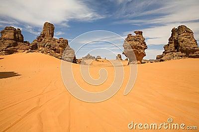 Rocks in Akakus, Libya