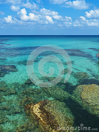 Free Rocks And Corals Under Turquoise Sea Water Stock Photo - 77356960