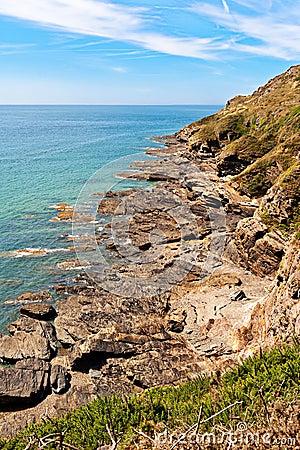 Rocks on atlantic coast in Normandy