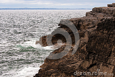 Rocks at the Atlantic ocean