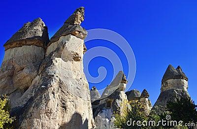 Rocks of Cappadocia in Central Anatolia, Turkey