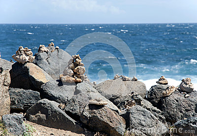 Rocks of the Caribbean coast