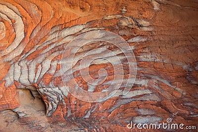 Rocks caves in nabatean city of  petra jordan