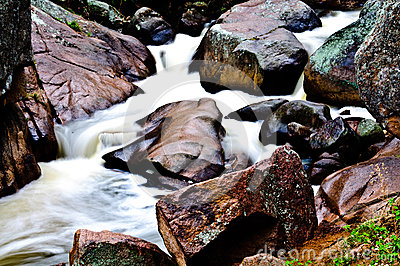Rocks Colorado Rocky Mountain Stream