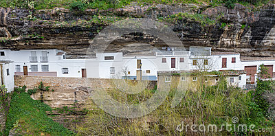 Rocks and houses