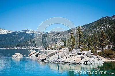 Rocks on the lake