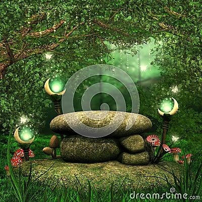 Rocks with magic lanterns