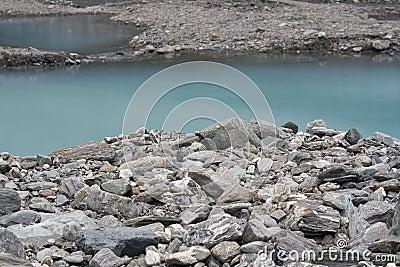 Rocks near glacier