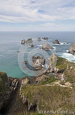 Rocks Nugget Point vertical