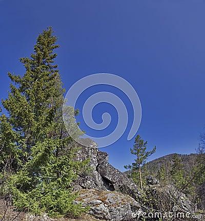 Rocks of the Nurgush mountain