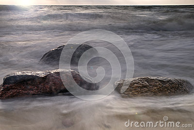 Rocks at ocean shore