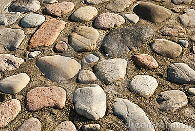 Rocks pavement